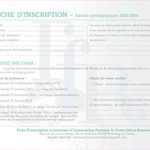 fontenay renaissance bulletin inscription saison 2015-2016